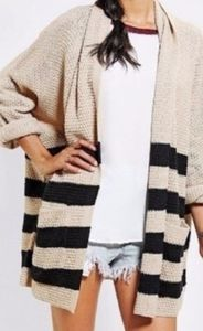 Urban Outfitters BDG open front striped cardigan S